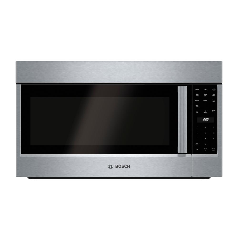 Bosch Microwave Bosch 500 Series 30 In 2 1 Cu Ft Over The Range Microwave In Stainless Steel
