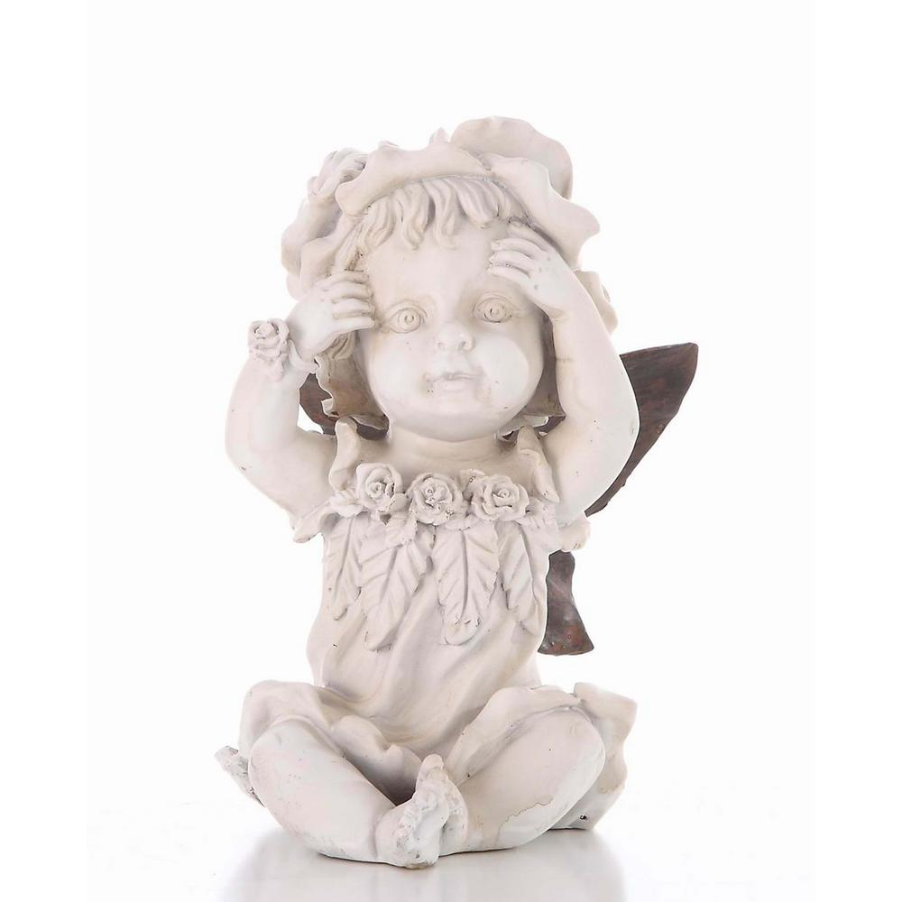 Faerie Statues Hi Line Gift Baby Fairy Hands On Face Statue