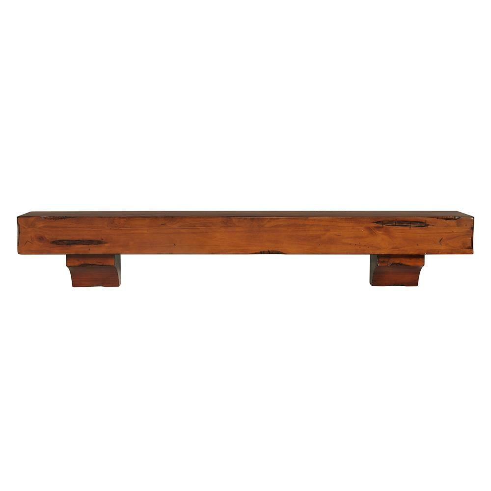 6 Ft Fireplace Mantel Pearl Mantels The Shenandoah 6 Ft Medium Rustic Distressed Cap Shelf Mantel