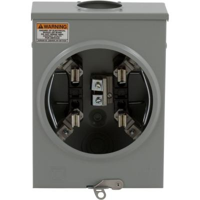 Square D 200 Amp Ringless Overhead Meter Socket-UTH5203B - The Home