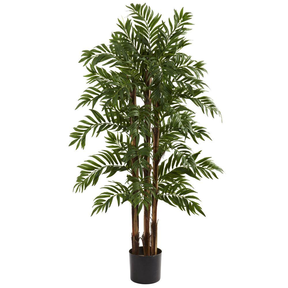 Home Depot Palm Trees Nearly Natural 4 Ft Parlor Palm Tree
