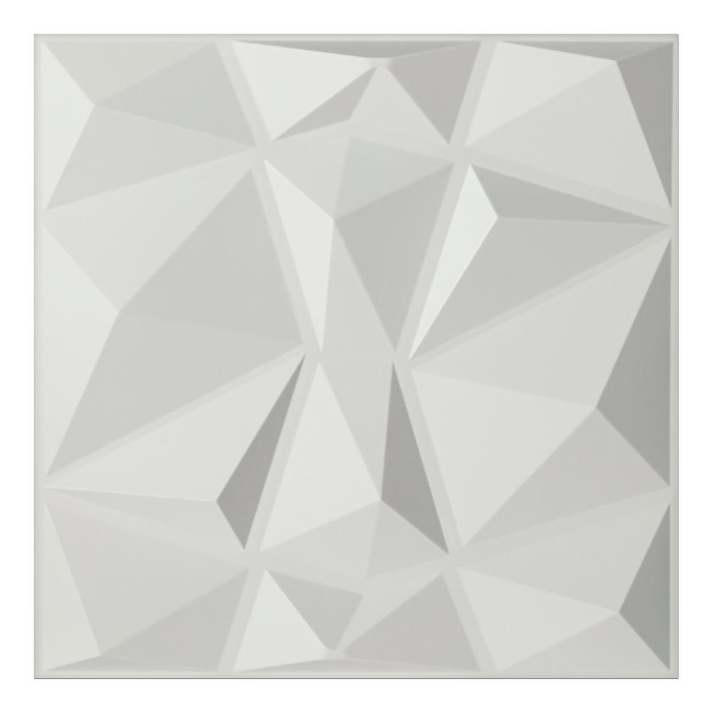 3d Wall Decor Art3d 19 7 In X 19 7 In White Decorative Pvc 3d Wall Panels In