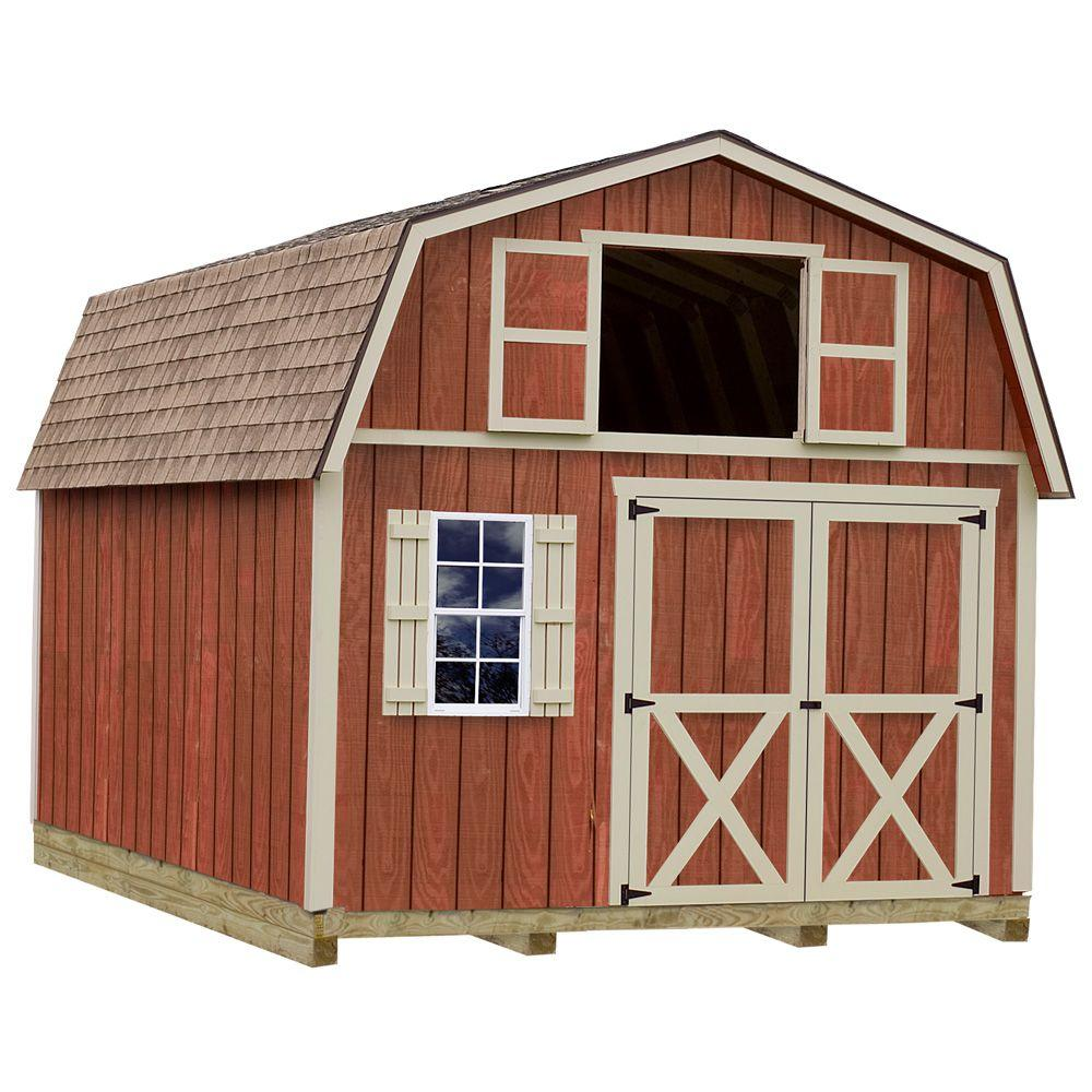 Home Depot Sheds For Sale Millcreek 12 Ft X 20 Ft Wood Storage Shed Kit With Floor Including 4 X 4 Runners