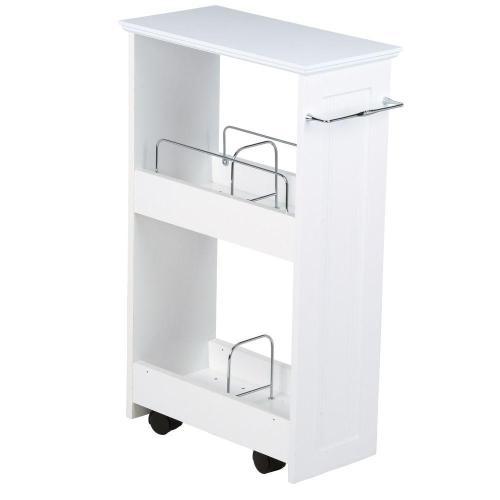 Medium Of White Shelves Bathroom