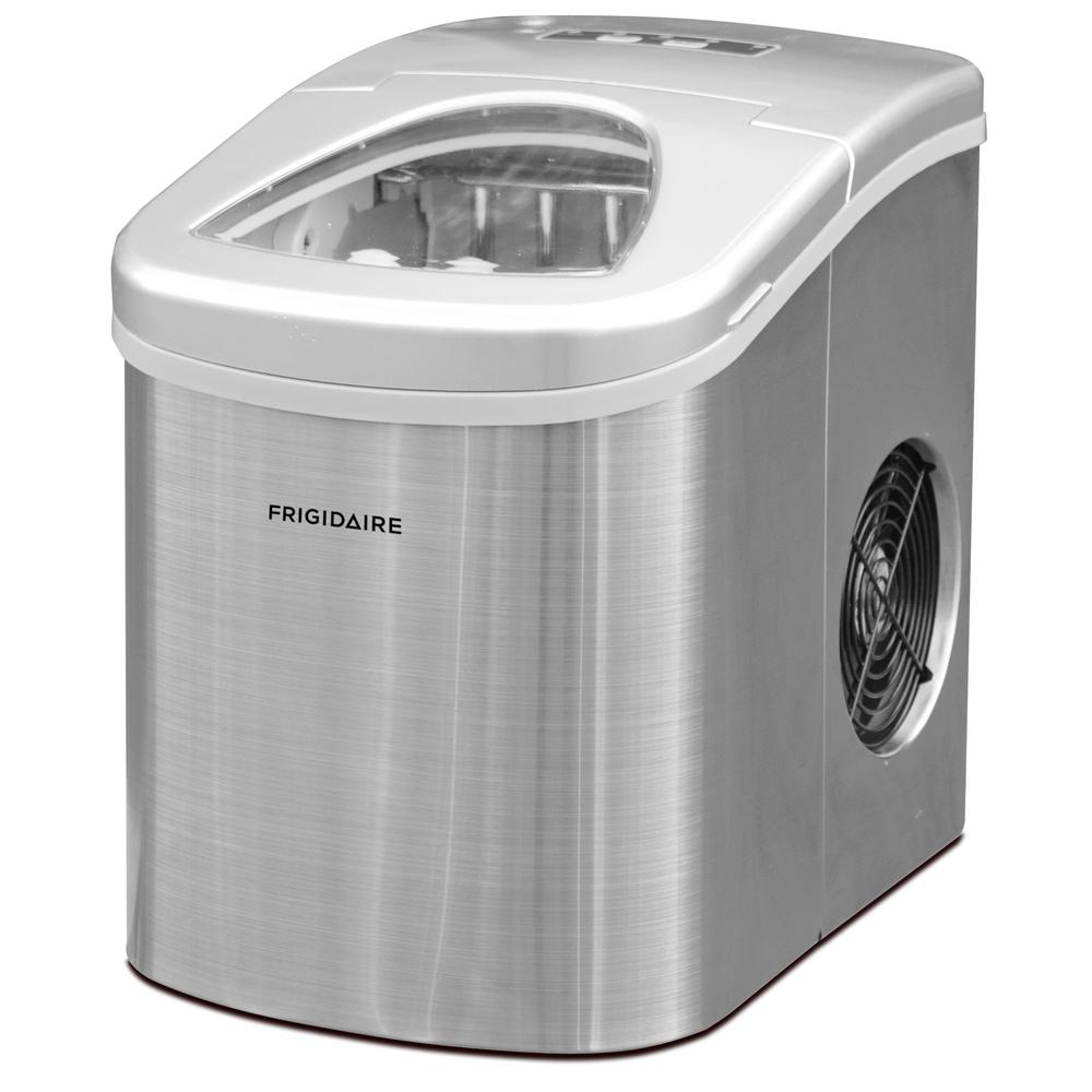 Frigidaire 26 Lb Portable Countertop Ice Maker In Stainless Steel Efic117 Ss The Home Depot