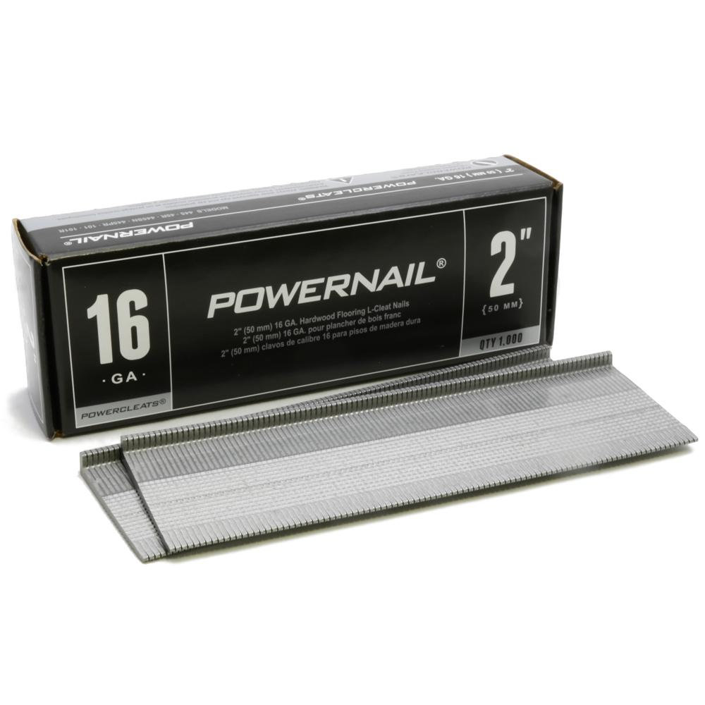 Plancher Home Depot Powernail 2 In X 16 Gauge Powercleats Hardwood Flooring Nails 1000 Pack