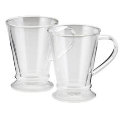 Small Crop Of Glass Mugs With Lids