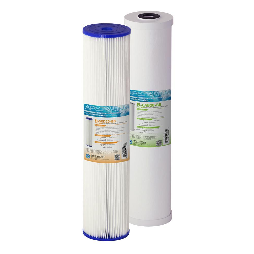 Carbon Water Filter System Apec Water Systems 20 In Whole House Sediment And Carbon Replacement Water Filter Set