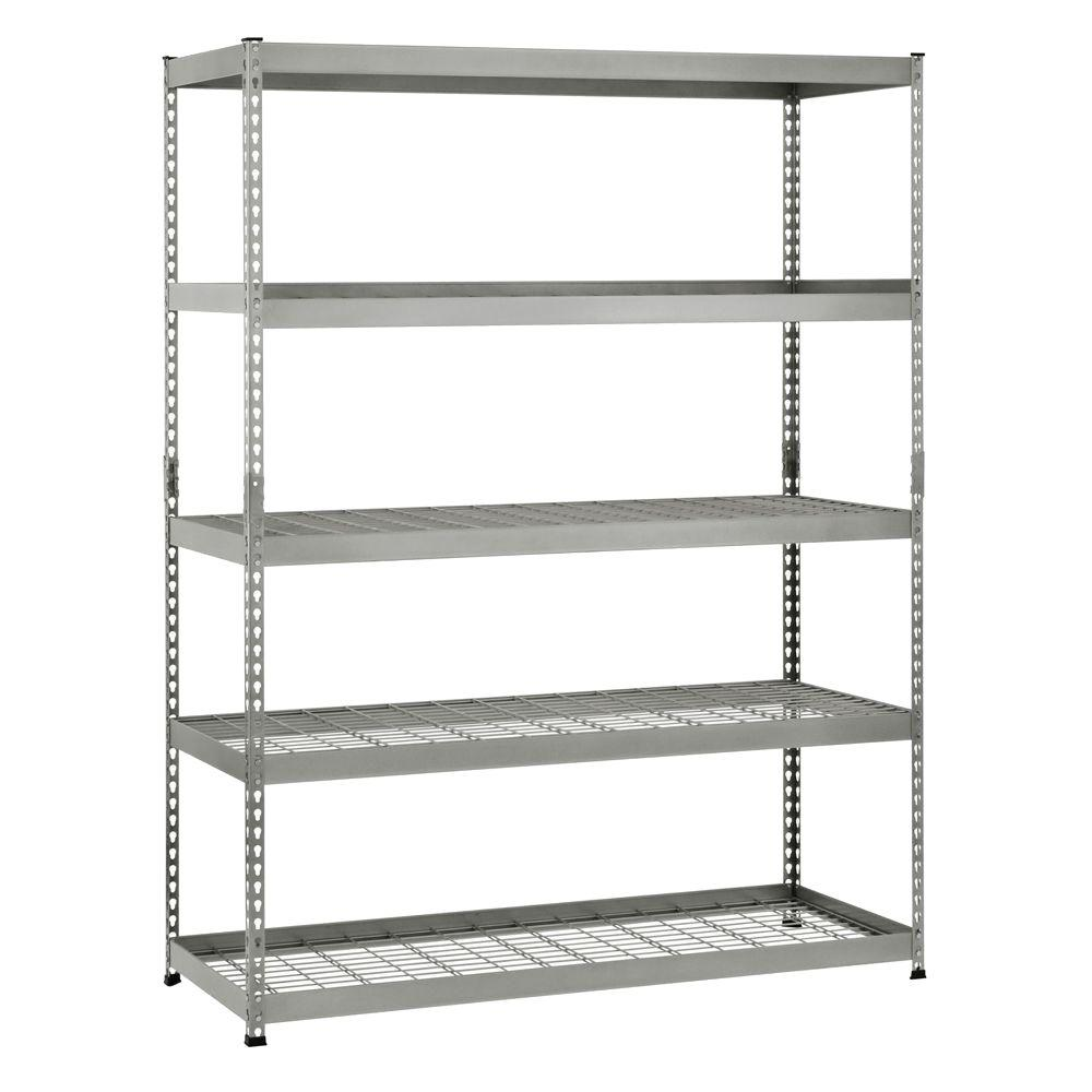Metal Shelving Husky 78 In H X 60 In W X 24 In D 5 Shelf Steel Unit