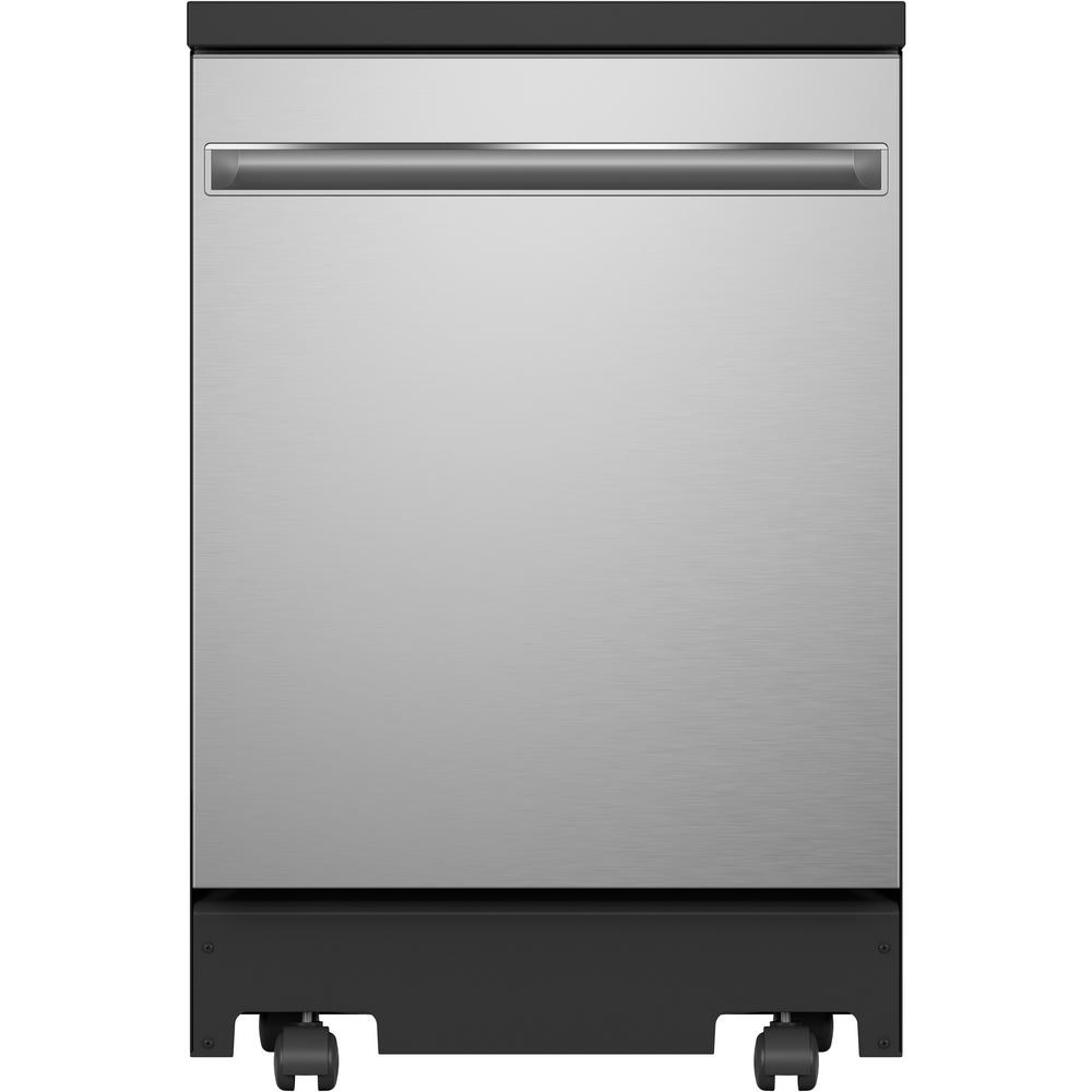 Ge Portable Dishwasher In Stainless Steel With 12 Place Settings Capacity 54 Dba Gpt225sslss The Home Depot