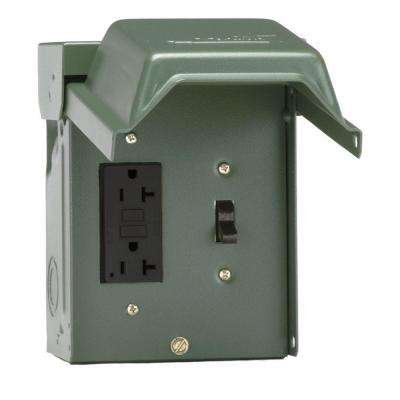 GE 20 Amp Backyard Outlet with Switch and GFI Receptacle-U010S010GRP