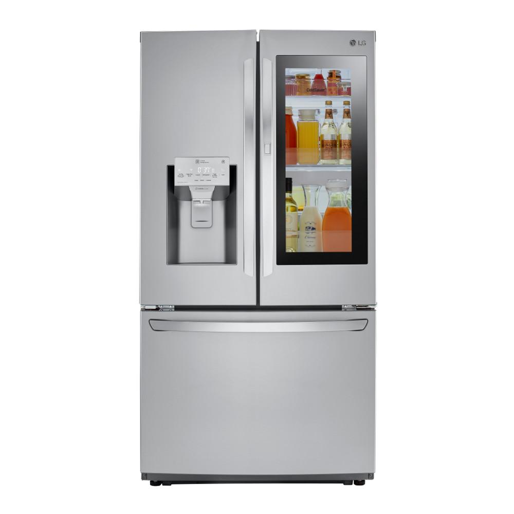 Home Depot Fridges Canada Lg Electronics 22 1 Cu Ft French Door Refrigerator In Black Counter Depth