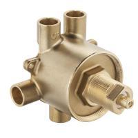 MOEN Brass Commercial 3-Function Transfer Shower Valve - 1 ...