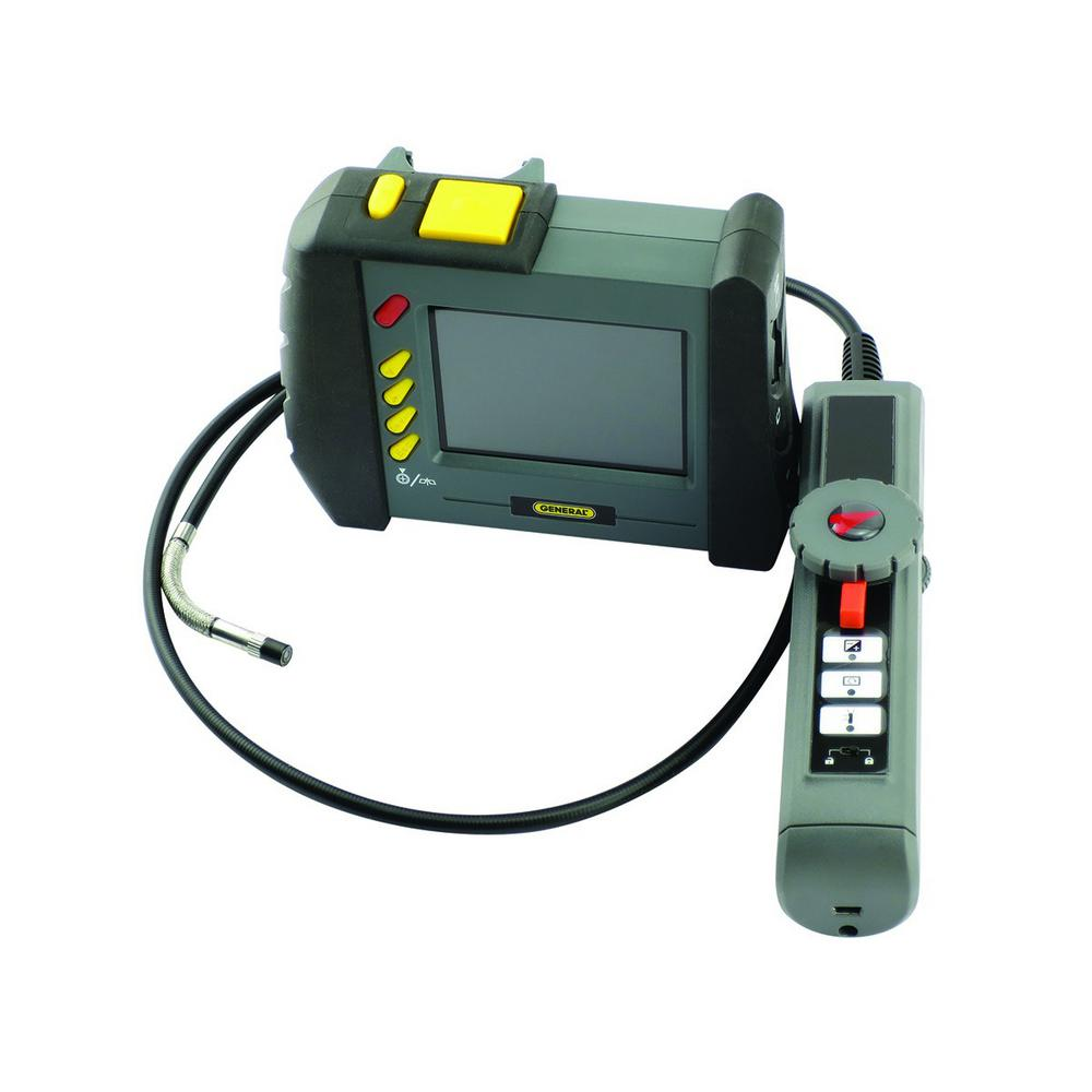 Wireless Inspection Camera General Tools Wireless Video Inspection Camera With 3 5 In Lcd Display And Waterproof High Performance Articulating Probe