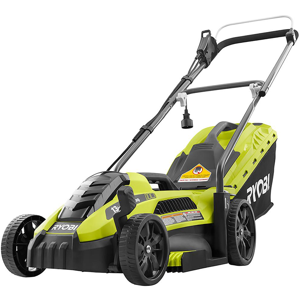 Electric Lawn Mower Sale Ryobi 13 In 11 Amp Corded Electric Walk Behind Push Mower