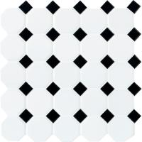 Daltile Matte White with Black Dot 12 in. x 12 in. x 6 mm ...