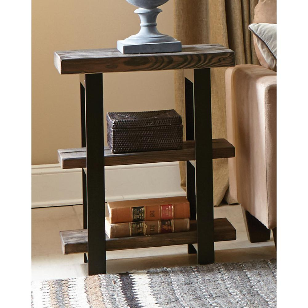 Rustic Wood End Table Alaterre Furniture Pomona Rustic Natural End Table Amba0220 The