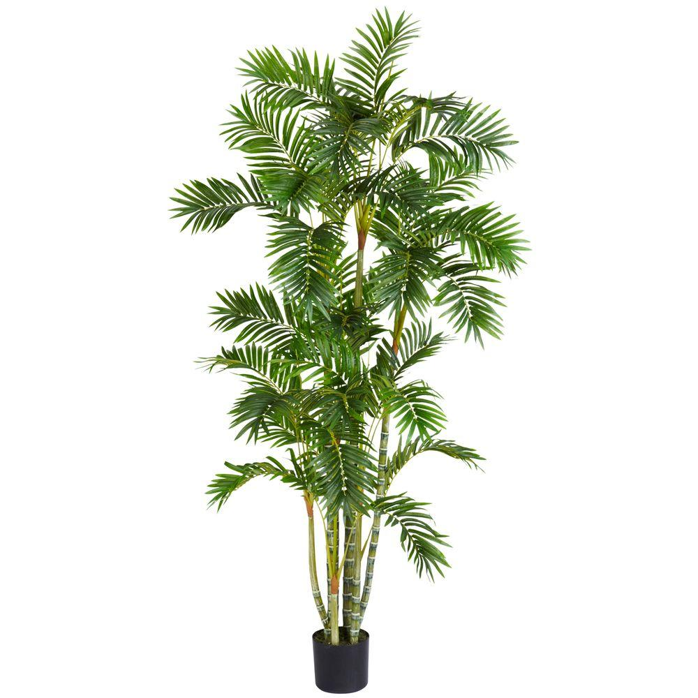 Home Depot Palm Trees 6 Ft Green Areca Palm Silk Tree