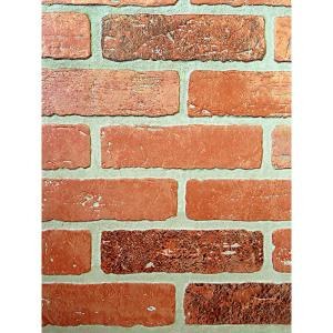 3d Effect Stone Brick Wall Textured Vinyl Wallpaper Self Adhesive 1 4 In X 48 In X 96 In Kingston Brick Hardboard Wall