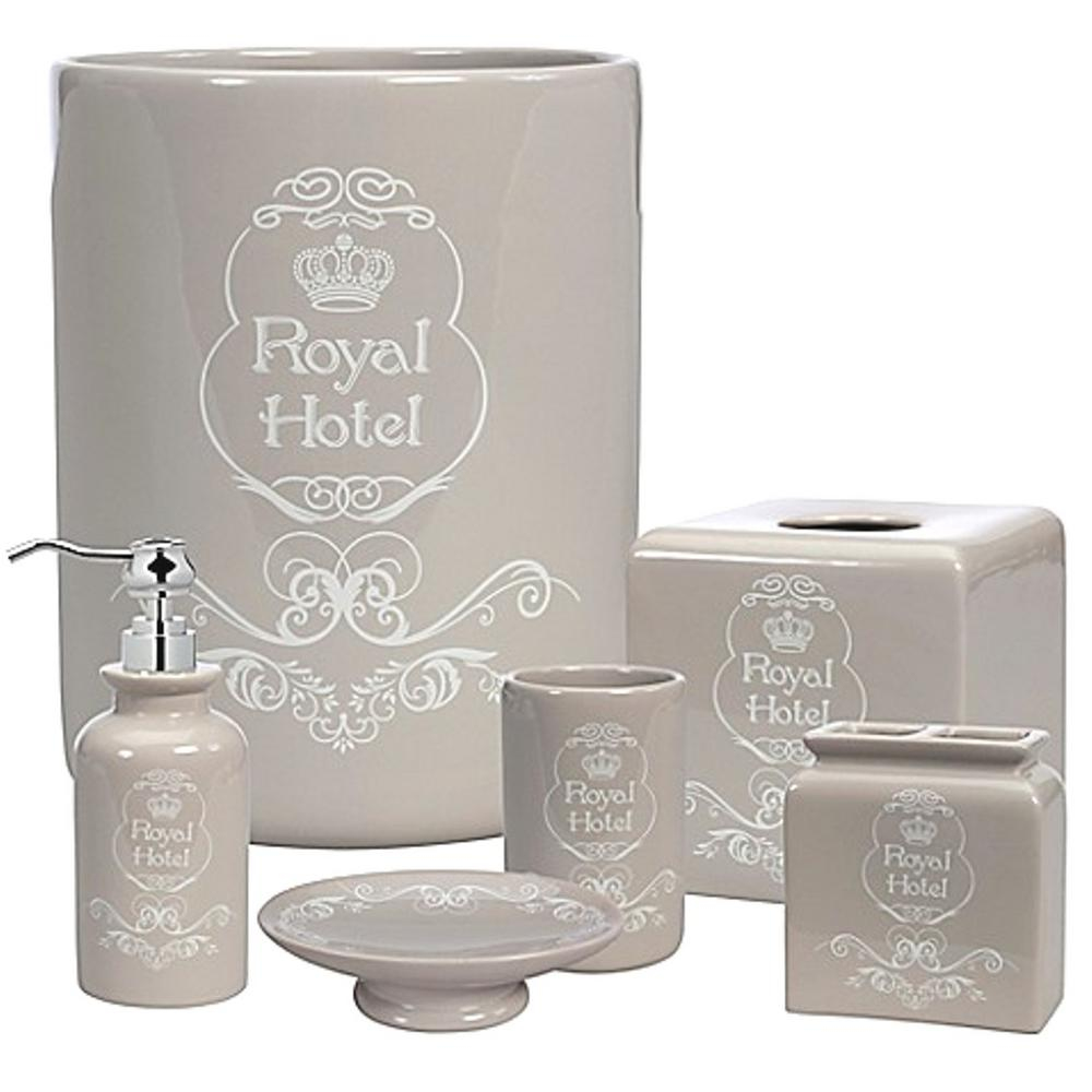 Bathroom Accessories Creative Bath Creative Bath Royal Hotel 8 Piece Ceramic Bath Accessory Set