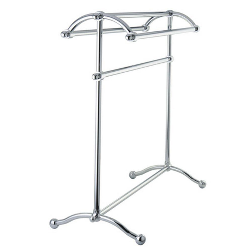 Kingston Brass Pedestal Towel Rack In Chrome Hscc2291
