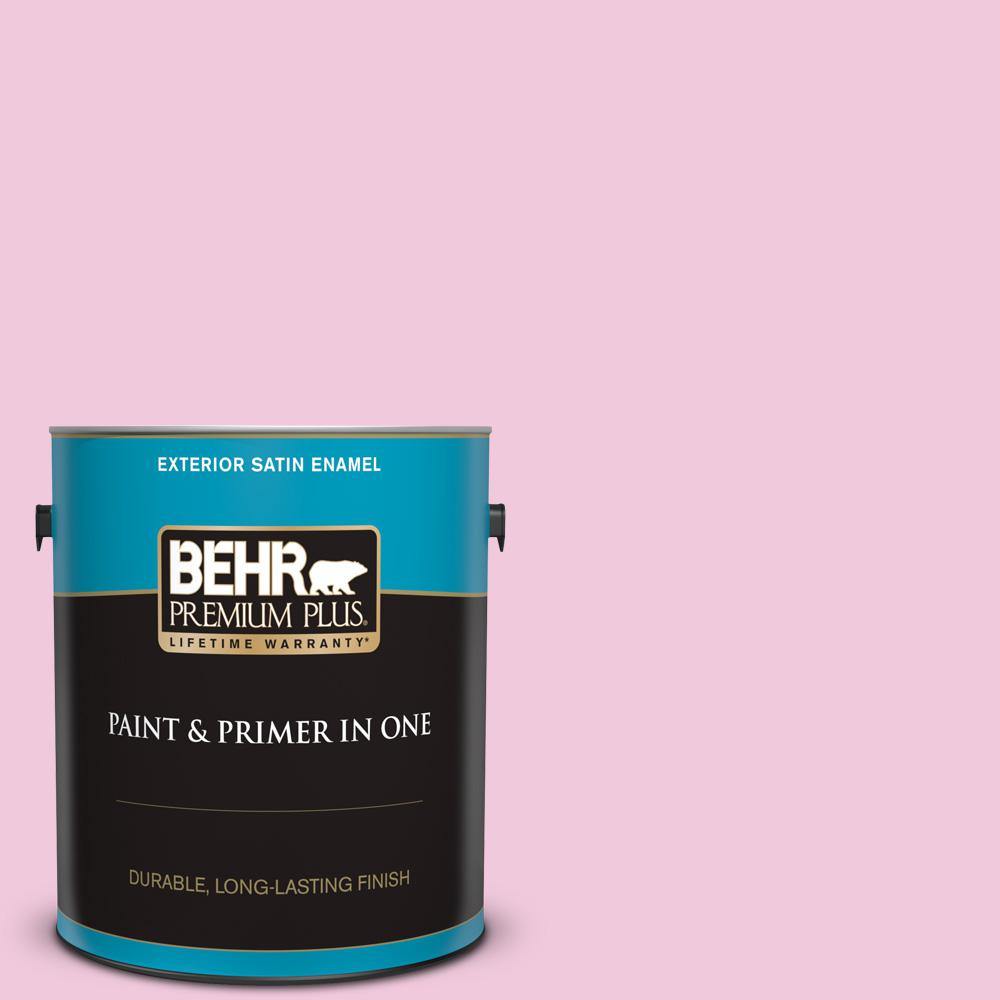 Bank St Home Depot Behr Premium Plus 1 Gal P130 1 Piggy Bank Satin Enamel Exterior Paint And Primer In One