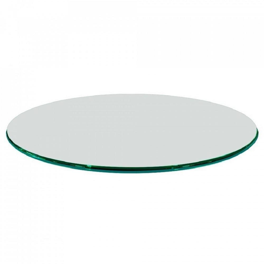 Round Glass Top Coffee Table Fab Glass And Mirror 60 In Clear Round Glass Table Top 1 2 In