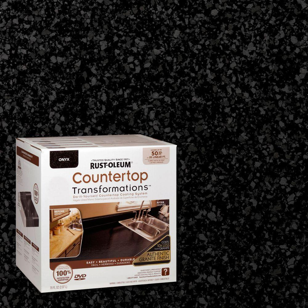 Rust Oleum Transformations 70 Oz Onyx Large Countertop Kit 258284 The Home Depot