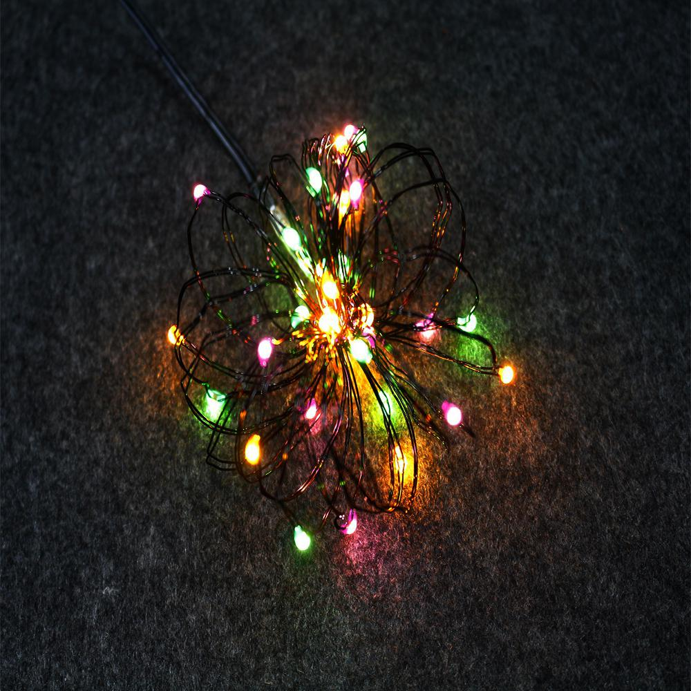 Led Halloween Lights Home Accents Holiday Halloween 9 Ft Lighted Length With 36 Light Led Multi Ultra Wire 6 Pack