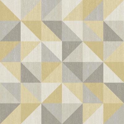 NuWallpaper Yellow and Grey Jigsaw Peel and Stick Wallpaper Sample-NU2098SAM - The Home Depot