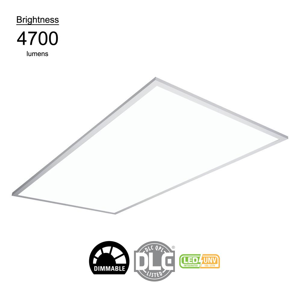 Panel Light Metalux 2 Ft X 2 Ft White Integrated Led Flat Panel Troffer Light Fixture At 4200 Lumens 4000k Dimmable