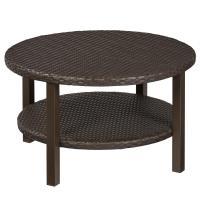 Hampton Bay Torquay Outdoor Coffee Table with Shelf ...