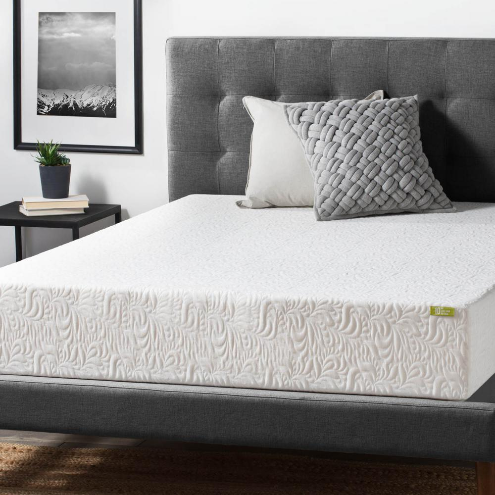 Foam Or Latex Mattresses Lucid 10 In Full Ventilated Latex Foam Mattress