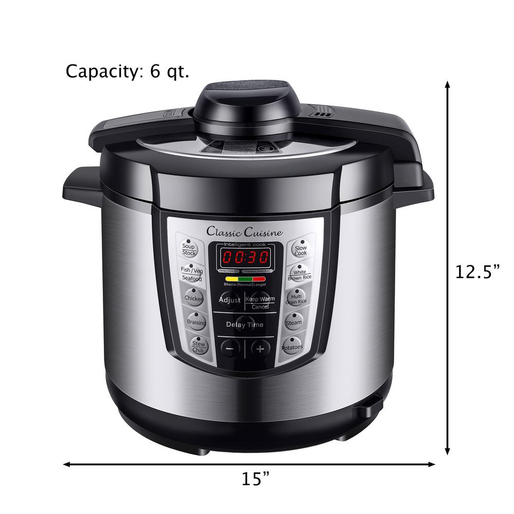 Big W Pressure Cooker Classic Cuisine 4 In 1 Pressure Cooker M030115 The Home Depot