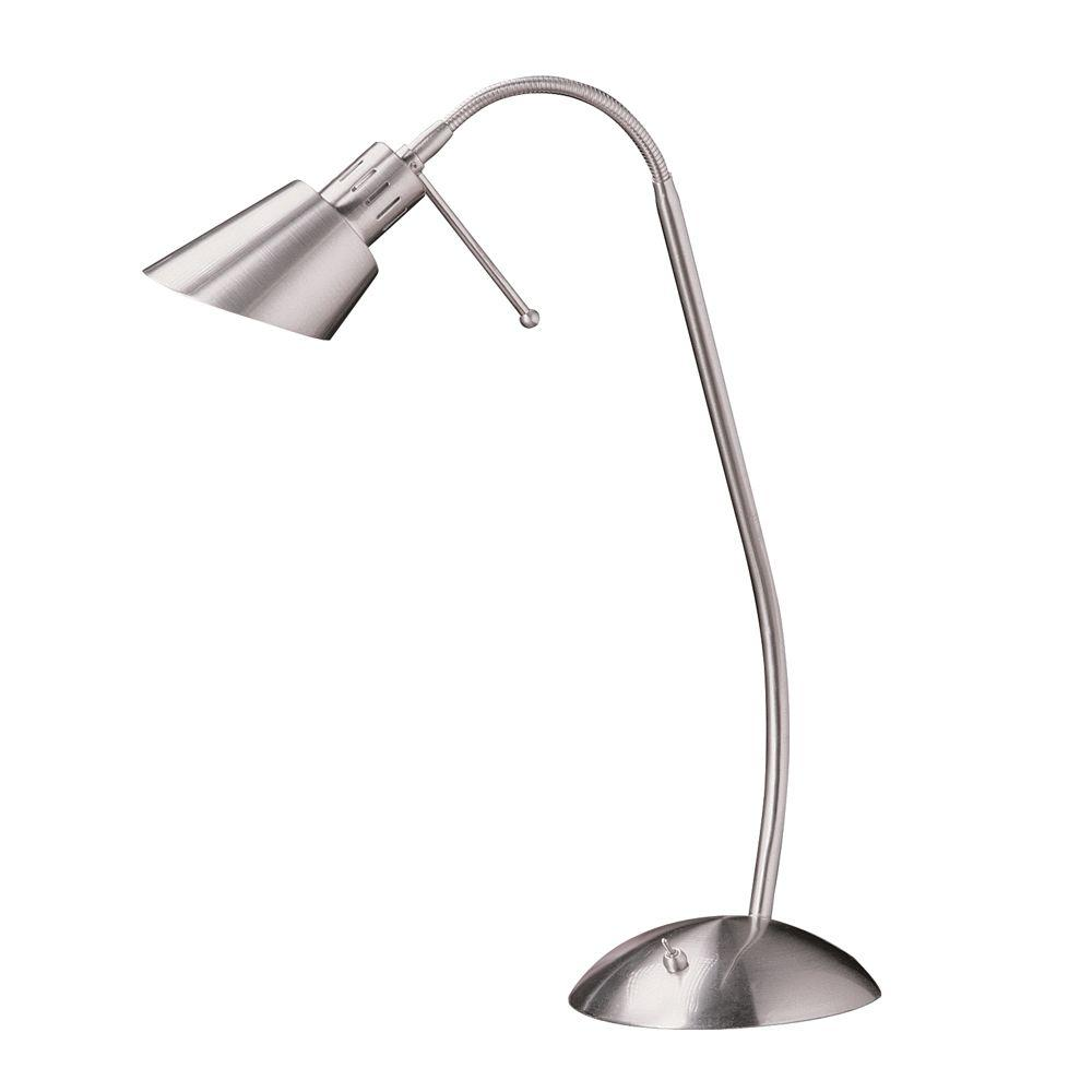 Halogen Table Lamp Designers Choice Collection 17 5 In Satin Nickel Halogen Desk Lamp