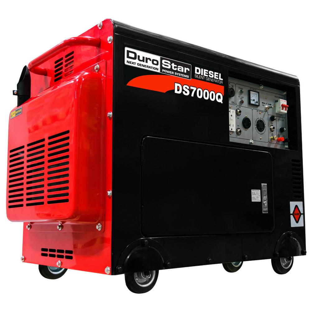 Diesel Generator Canada Durostar 5500 Watt Diesel Powered Remote Start Portable Generator