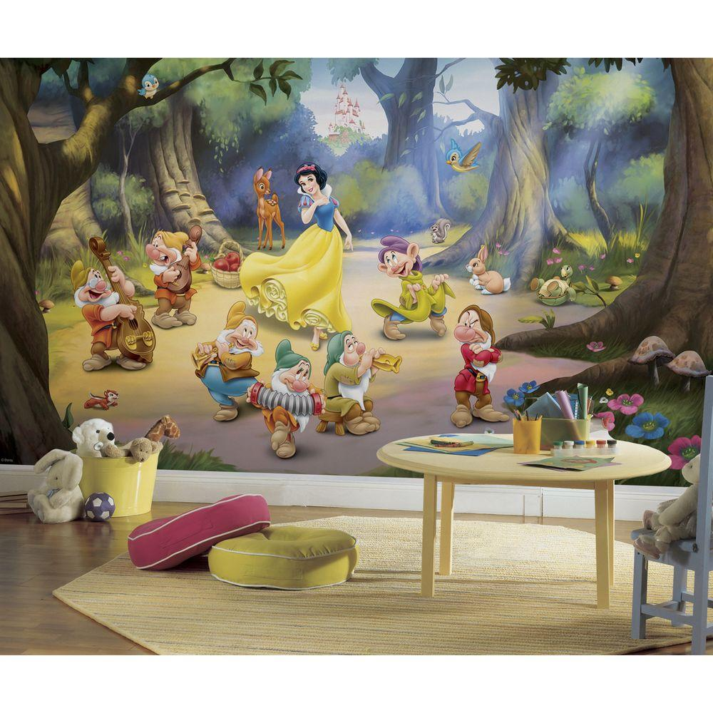 Wall Decoration Murale 72 In X 126 In Snow White And The Seven Dwarfs Ultra Strippable Wall Mural