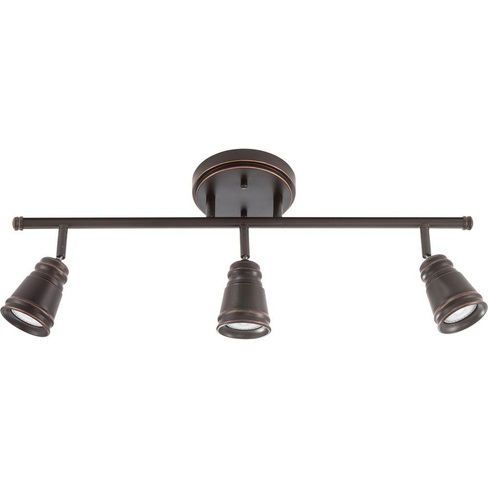 Lighting Fixtures Lithonia Lighting Pepper Mill 3 Light Oil Rubbed Bronze Track Lighting Fixture With Led Bulbs