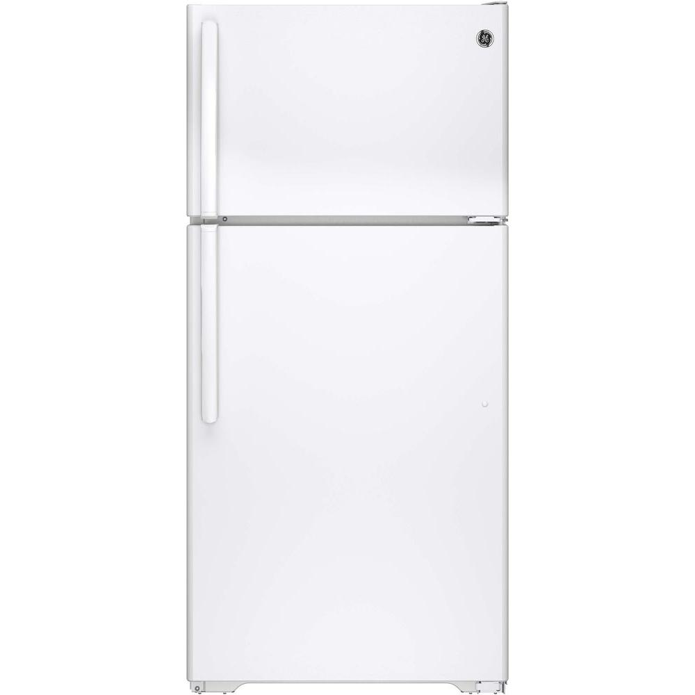 14 Cu Ft Refrigerator Ge 14 6 Cu Ft Top Freezer Refrigerator In White