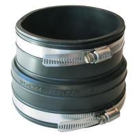 Fernco 4 in. x 4 in. PVC Plastic Socket to Plastic Pipe ...