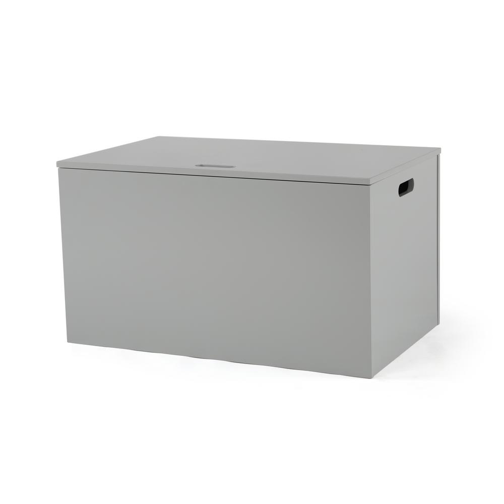 Toy Chests Grey Hinged Toy Chest