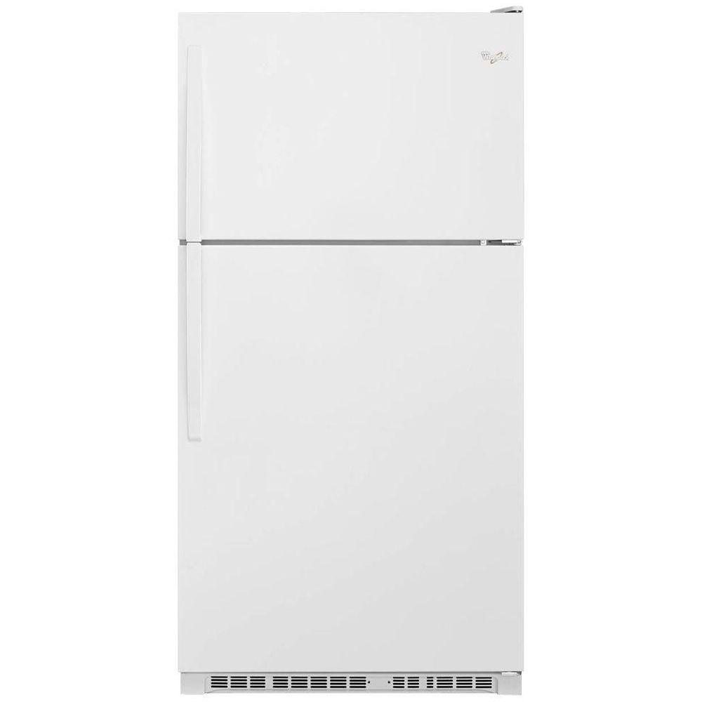Home Depot Fridges Canada Whirlpool 20 Cu Ft Top Freezer Refrigerator In White