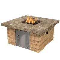 Cal Flame Cultured Stone Propane Gas Fire Pit in Brown ...
