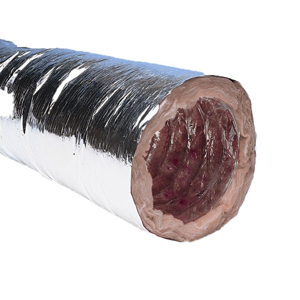 Dryer Vent Insulation Speedi Products 4 In X 12 Ft Insulated Flexible Duct With Metalized Jacket R8
