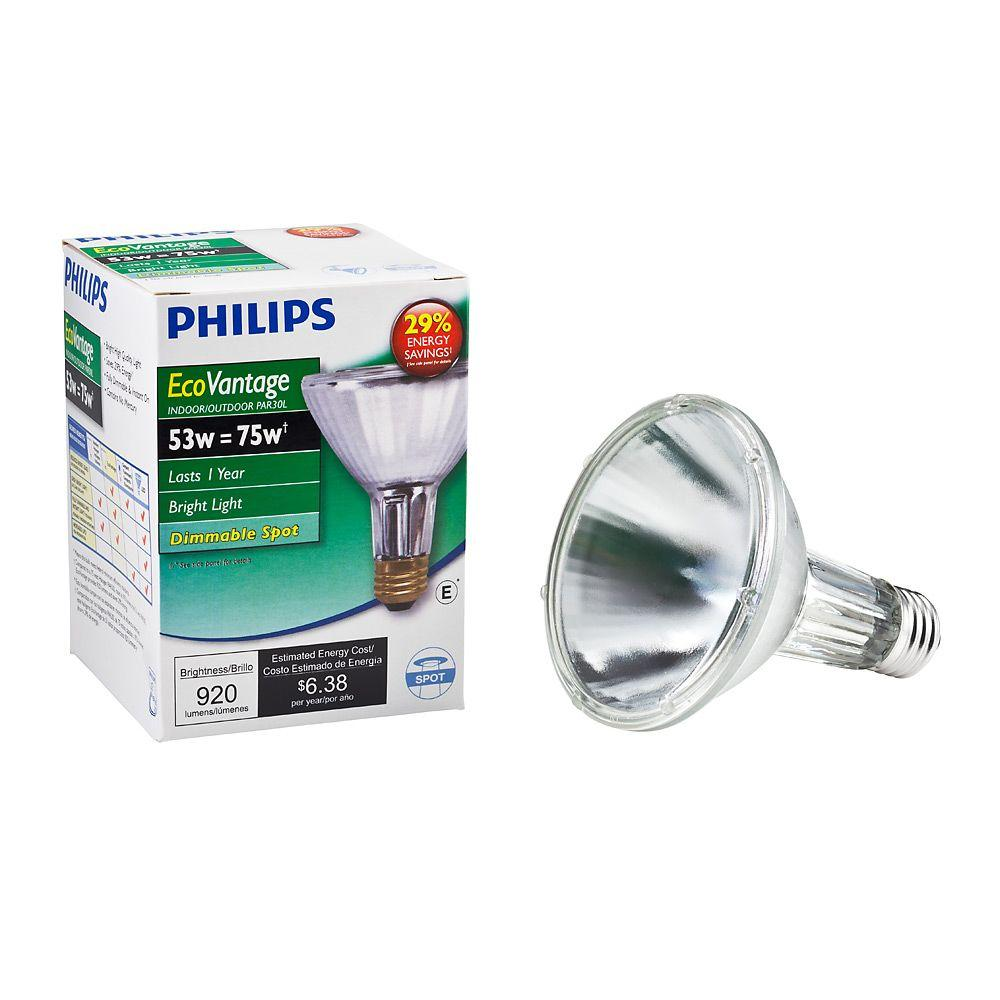 Halogen Spotlight Bulbs Philips 53 Watt Equivalent Halogen Par30l Dimmable Spotlight Bulb