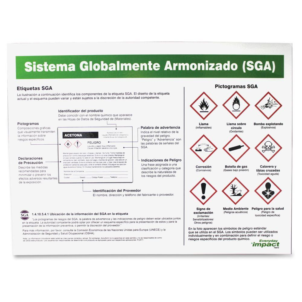 Poster In Spanish Impact Ghs Label Guideline Spanish Poster