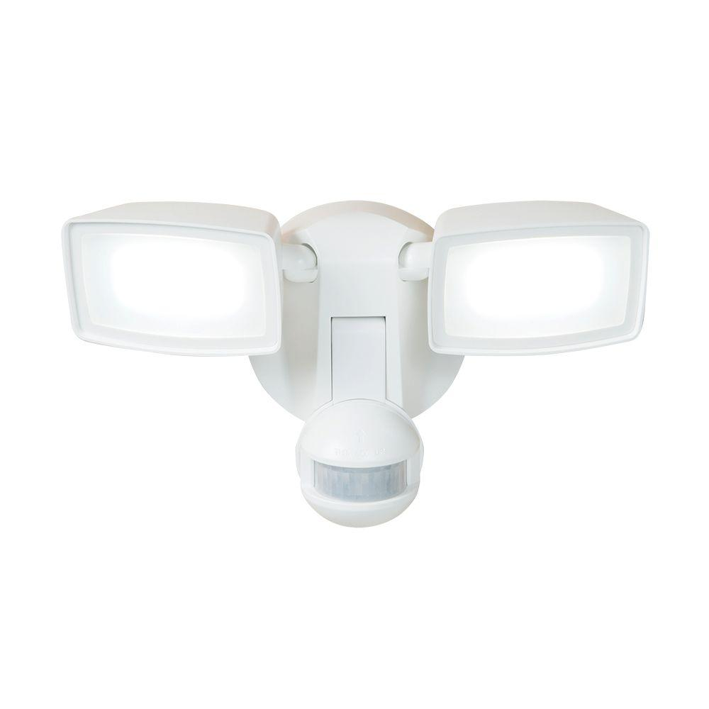 Motion Detector Lights Outdoor Halo 180 Degree White Dual Position Motion Activated Sensor