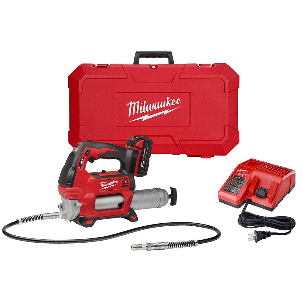 Electric Grease Gun Milwaukee M18 18 Volt Lithium Ion Cordless Grease Gun 2 Speed W 1 1 5ah Batteries Charger Hard Case