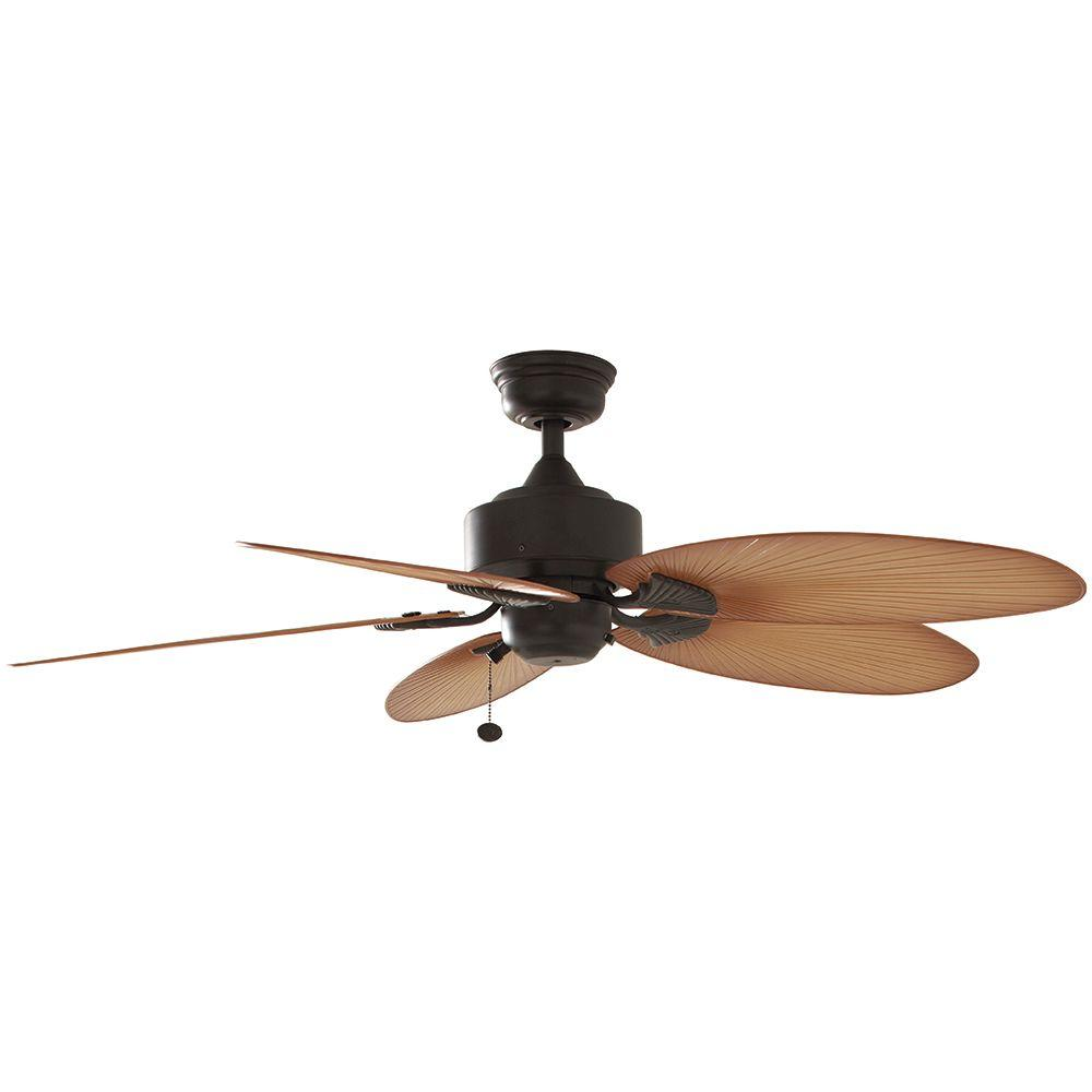 Large Indoor Fans Hampton Bay Lillycrest 52 In Indoor Outdoor Aged Bronze Ceiling Fan