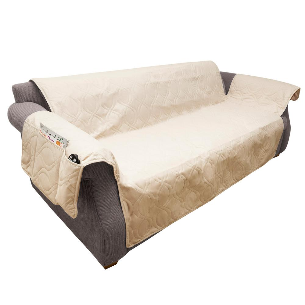 Couch Cover Sofa Petmaker Non Slip Tan Waterproof Sofa Slipcover